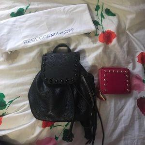 Rebecca Minkoff Studded Backpack and Wallet Set